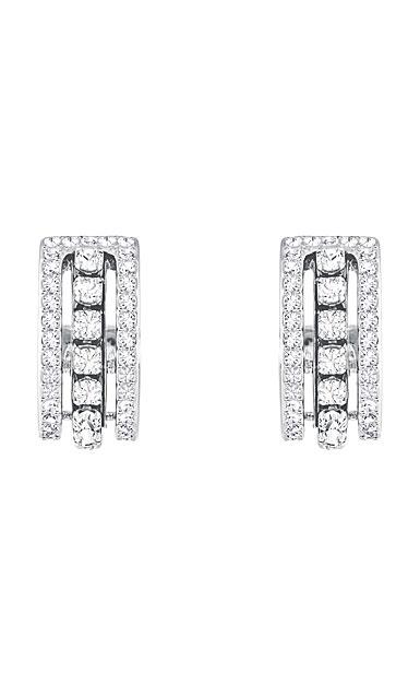 Swarovski Further Pierced Earrings, White, Rhodium