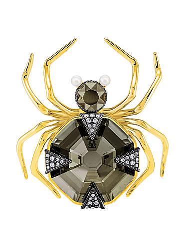 Swarovski Magnetic Spider Multi Colored Brooch