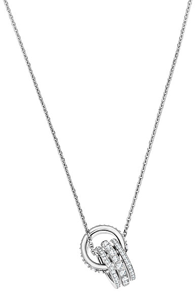 Swarovski Further Double Crystal and Rhodium Pendant Necklace