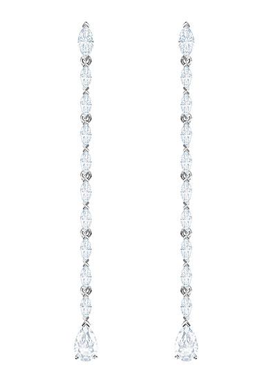 Swarovski Louison Pierced Earrings, White, Rhodium