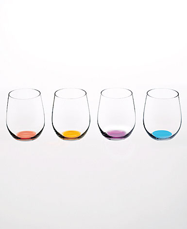 Riedel Happy O Vol. 2 Stemless Crystal Wine Glasses, Set of Four