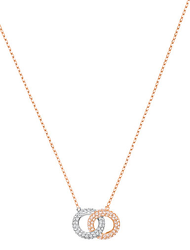 Swarovski Stone Necklace, Multi Colored, Rose Gold