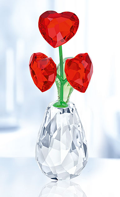 Swarovski Crystal, Flower Dreams Hearts Flower Pot