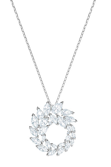 Swarovski Louison Crystal and Rhodium Pendant Necklace