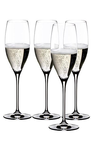 Riedel Vinum Cuvee Champagne Glasses Gift Set, 3+1 Free