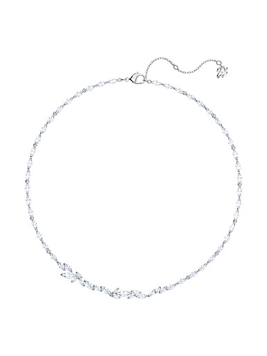 Swarovski Louison Necklace, White, Rhodium
