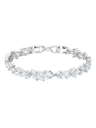 Swarovski Louison Crystal and Rhodium Bracelet, Medium