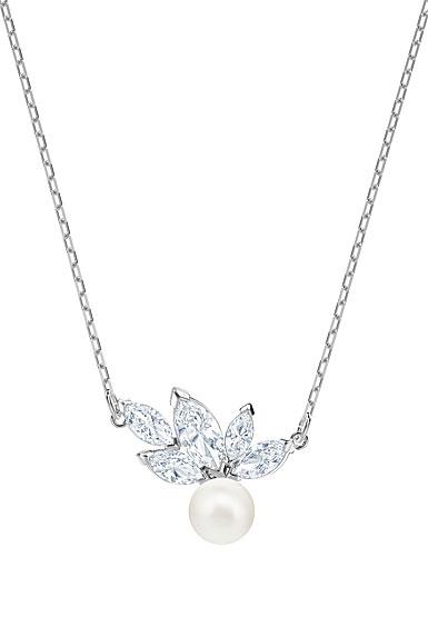 Swarovski Louison Pearl Pendant, White, Rhodium