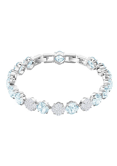 Swarovski Mix Blue, Crystal and Rhodium Bracelet