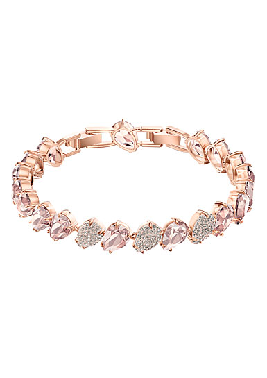Swarovski Mix Pink Crystal and Rose Gold Bracelet
