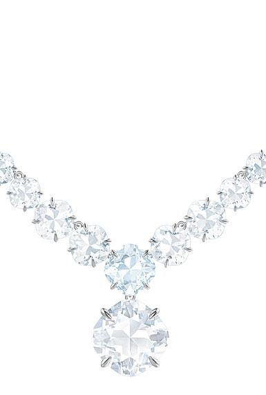 Swarovski Mix Blue, Crystal and Rhodium All-Around Necklace