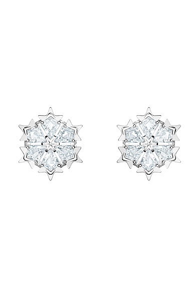 Swarovski Magic Pierced Earrings, White, Rhodium