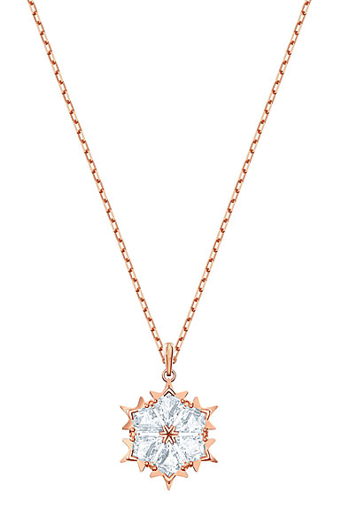 Swarovski Magic Pendant, White, Rose Gold
