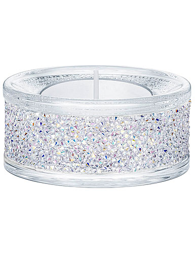 Swarovski Shimmer Aurora Borealis Tea Light Holder, Single