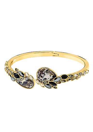 Swarovski March Owl Multi Colored and Gold Bangle Bracelet