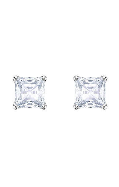 Swarovski Attract Crystal and Rhodium Stud Pierced Earrings Pair
