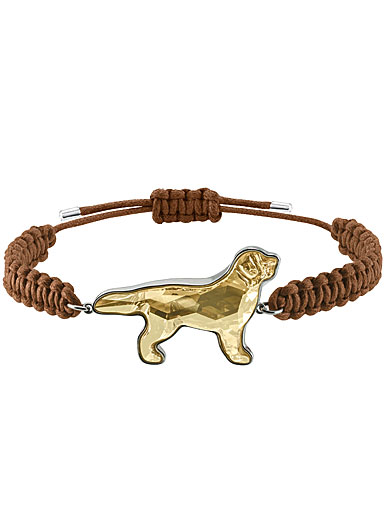 Swarovski Pets Golden Retriever Golden Crystal and Rhodium Medium Bracelet