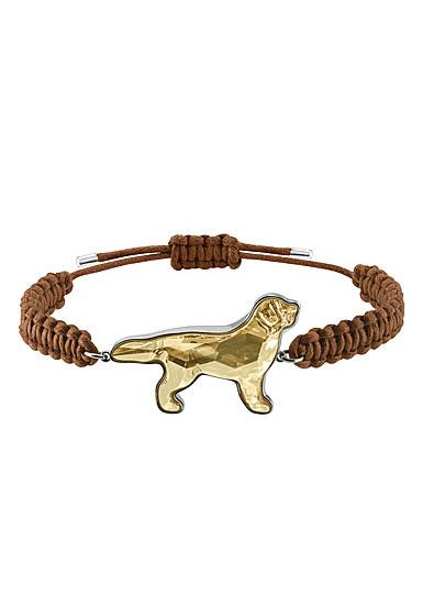 Swarovski Pets Retriever Bracelet, Golden, Rhodium
