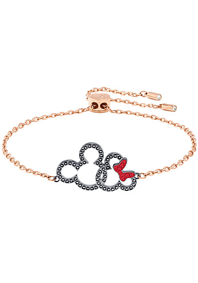 Swarovski Mickey and Minnie Bracelet, Multi Colored, Mixed metal finish