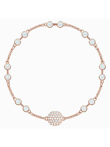 Swarovski Remix Bracelet White and Rose Gold Plated