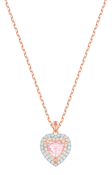 Swarovski One Pendant, Multi Colored, Rose Gold