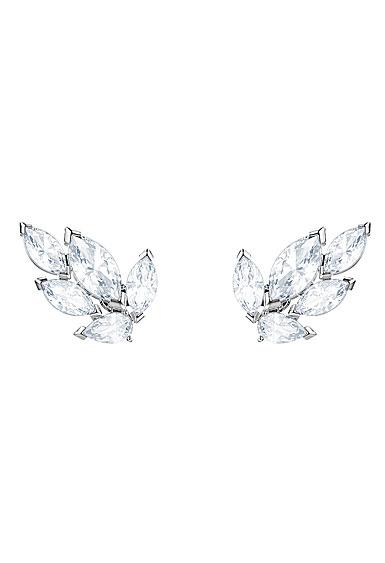 Swarovski Louison Crystal and Rhodium Stud Pierced Earrings Pair