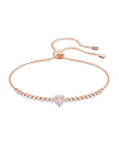 Swarovski Jewelry, One Bracelet Subtle Pink Crystal Rose Gold Medium