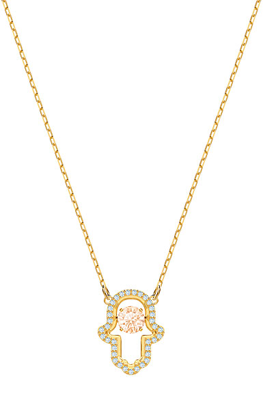 Swarovski Jewelry, Luckily Necklace Multi Colored Gold