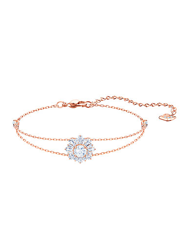 Swarovski Sunshine Bracelet, White, Rose Gold