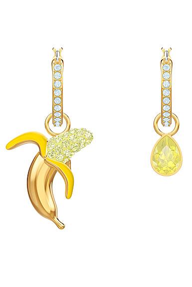 Swarovski Jewelry, No Regrets Pierced Earrings Banana Multi Colored Gold