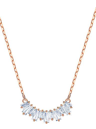 Swarovski Sunshine Necklace, White, Rose Gold