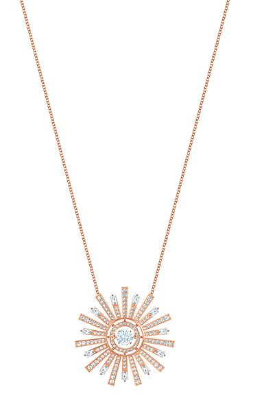 Swarovski Sunshine Necklace, White, Rose Gold
