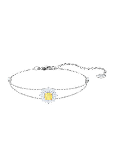 Swarovski Jewelry, Sunshine Bracelet Crystal Rhodium Silver Medium