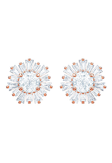 Swarovski Jewelry, Sunshine Pierced Earrings Crystal Rose Gold