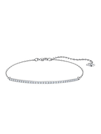 Swarovski Jewelry, Only Bracelet Line Crystal Rhodium Silver Medium