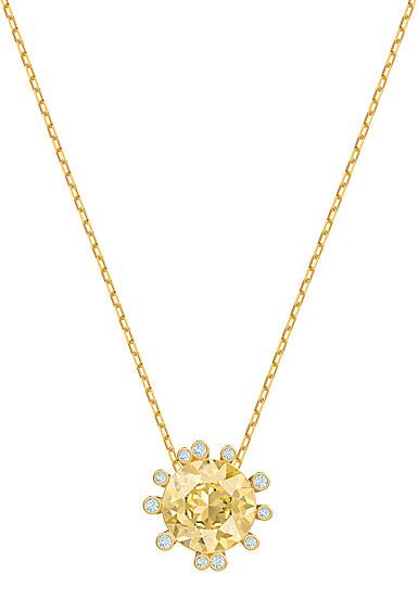 Swarovski Jewelry, Olive Pendant Round Golden Color Crystal Gold