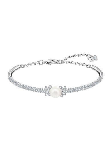 Swarovski Jewelry, Originally Bangle Crystal Rhodium Silver Medium