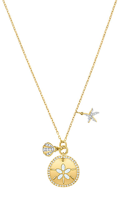 Swarovski Jewelry, Ocean Necklace Sand Coin Crystal Gold