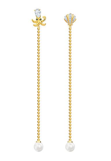Swarovski Jewelry, Ocean Pierced Earrings Long Multi Colored Mix