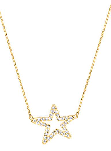 Swarovski Jewelry, Only Necklace Star Crystal Gold