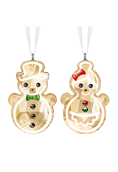 Swarovski Joyful Gingerbread Snowman Couple Ornament 2019