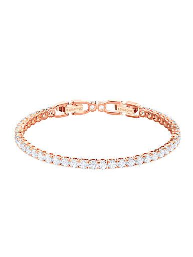 Swarovski Jewelry, Tennis Bracelet Round Crystal Rose Gold Medium