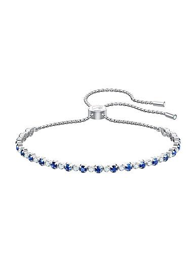 Swarovski Jewelry, Subtle Trilogy Sapphire Crystal and Rhodium Silver Bracelet
