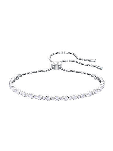 Swarovski Jewelry, Subtle Bracelet Trilogy Crystal Rhodium Silver Medium
