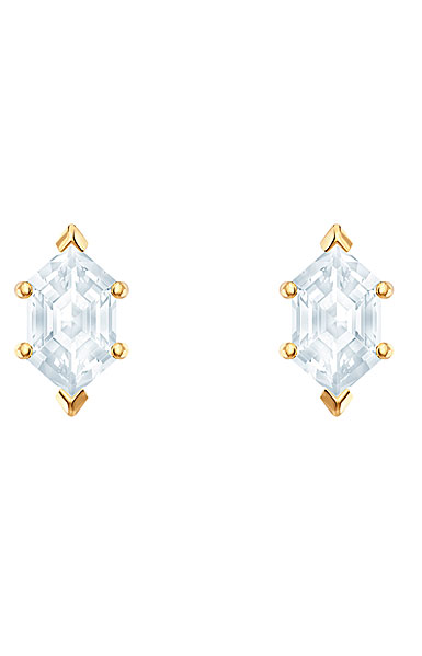 Swarovski Oz Pierced Earrings, White, Gold