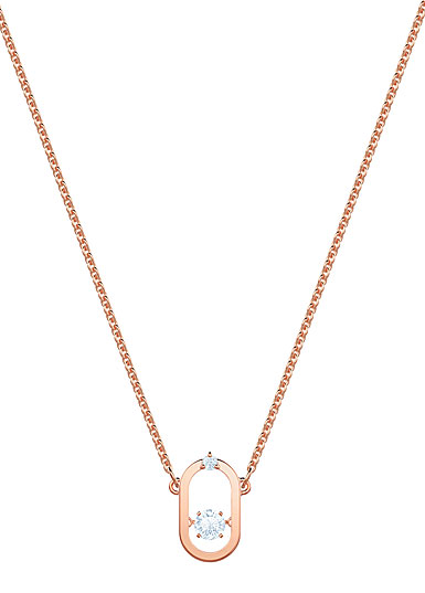 Swarovski Jewelry, North Necklace Oval Crystal Rose Gold