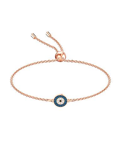 Swarovski Jewelry, Luckily Bracelet Round Multi-Color Rose Gold Medium