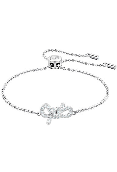 Swarovski Jewelry, Lifelong Bow Crystal and Rhodium Silver Medium Bracelet