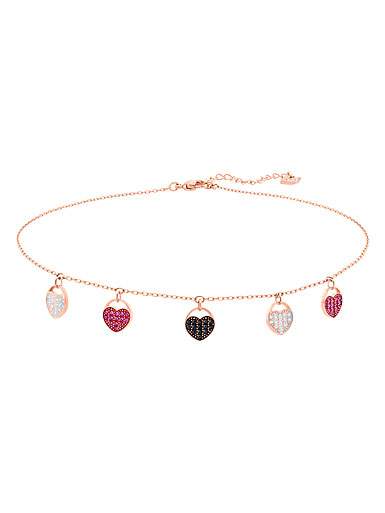 Swarovski Ginger Choker Necklace, Multi Colored, Rose Gold