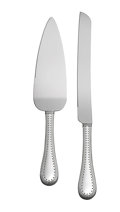 Vera Wang Wedgwood Grosgrain Silver Cake Knife and Server Set
